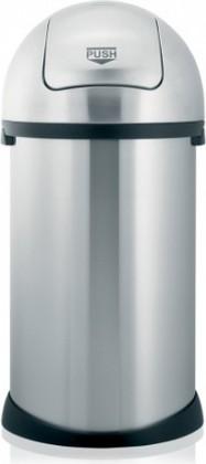 Мусорный бак с нажимной крышкой 50л стальной матовый Brabantia 348464