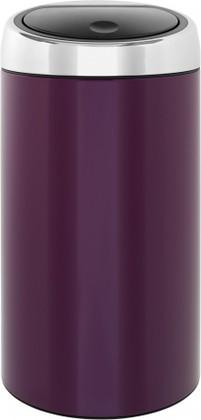 Ведро для мусора 45л фиолетовое Brabantia TOUCH BIN 424465