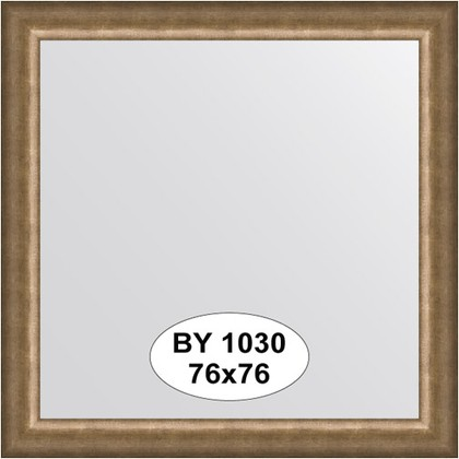 Зеркало 76x76см в багетной раме старая бронза Evoform BY 1030