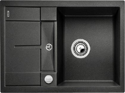 Кухонная мойка оборачиваемая с крылом, с клапаном-автоматом, гранит, антрацит Blanco METRA 45 S Compact 519572