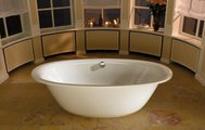 Ванна стальная 190x100см с декоративной крышкой отверстия слива-перелива, Perl-Effekt Kaldewei ELLIPSO DUO OVAL 232 2862.0001.3001