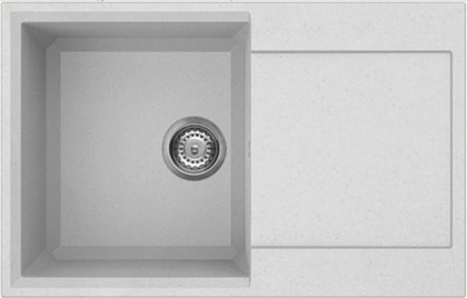 Кухонная мойка оборачиваемая с крылом, гранит, белый Omoikiri Sakaime 79-WH 4993279