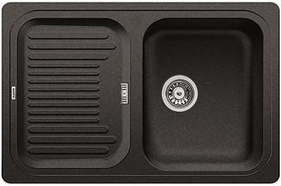 Кухонная мойка с крылом оборачиваемая, гранит антрацит Blanco CLASSIC 45 S 521308