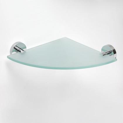 Полка угловая матовое стекло/хром 255x255мм Bemeta Omega 104102012