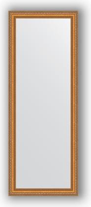 Зеркало в багетной раме 55x145см золотые бусы на бронзе 60мм Evoform BY 3106