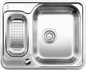 Кухонная мойка оборачиваемая без крыла, с клапаном-автоматом, с коландером, нержавеющая сталь полированная Blanco LANTOS 6-IF 516676