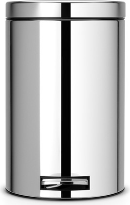 Бак для мусора с металлическим внутренним ведром, с педалью 12л сталь полированная Brabantia 123405