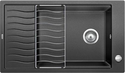 Кухонная мойка оборачиваемая с крылом и решеткой, гранит антрацит Blanco ELON XL 8 S 520484