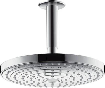 Верхний душ 240мм с потолочным держателем, хром / белый Hansgrohe Raindance Select S 26467400