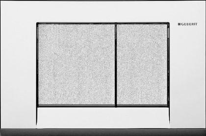Кнопка пластиковая двойного смыва для инсталляции, хром структурный Geberit BOLERO 115.777.KB.1