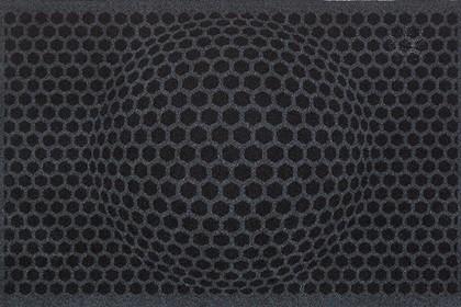 Коврик придверный 50x78см для помещения серые соты, полиамид Golze CONTZEN MATS HONEYCOMBOSITIONS 1700-40-007-041