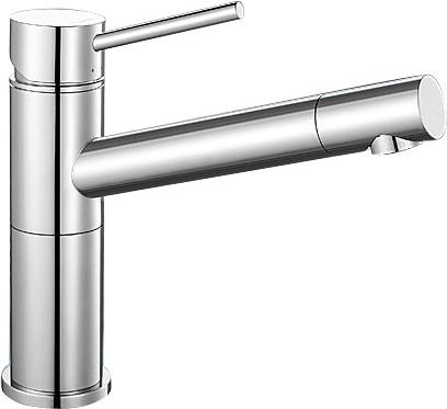 Небольшой кухонный однорычажный смеситель с выдвижным изливом, хром Blanco ALTA Compact 515120