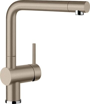 Смеситель кухонный однорычажный с высоким изливом, SILGRANIT серый беж Blanco LINUS 517622