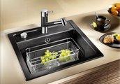 Смеситель кухонный однорычажный с высоким выдвижным изливом, хром / тёмная скала Blanco TIVO-S 518798