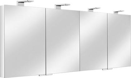 Зеркальный шкаф 160.0x75.0см с подсветкой четырёхдверный Keuco ROYAL UNIVERSE 12706171301