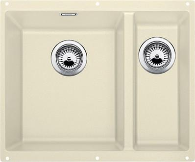 Кухонная мойка без крыла, основная чаша слева, с клапаном-автоматом, гранит, жасмин Blanco SUBLINE 340/160-U 513791