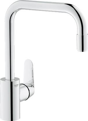 Смеситель однорычажный с выдвижным изливом для кухонной мойки, хром Grohe EURODISC Cosmopolitan 31122002