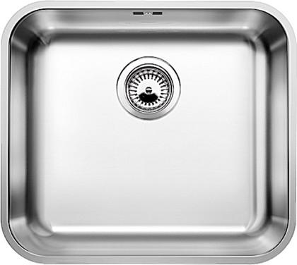 Кухонная мойка без крыла, с клапаном-автоматом, нержавеющая сталь полированная Blanco SUPRA 450-U 518204