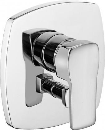 Встраиваемый смеситель для ванны и душа с термостатом, хром Kludi Q-BEO 506500565