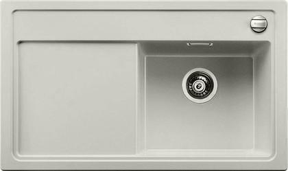 Кухонная мойка чаша справа, крыло слева, с клапаном-автоматом, гранит, жемчужный Blanco ZENAR 45 S 520612