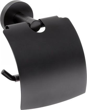 Держатель для туалетной бумаги с крышкой Bemeta DARK 104112010