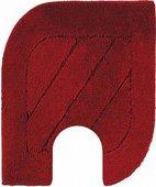 Коврик с вырезом под туалет 50x60см бордовый Grund ANITA WC 820.06.007