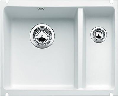 Кухонная мойка без крыла, с клапаном-автоматом, керамика, белый матовый Blanco SUBLINE 350/150-U PuraPlus 514525