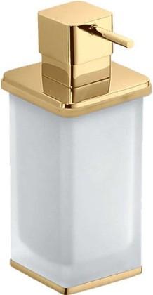Дозатор для жидкого мыла настольный со стеклянной колбой золото Colombo LULU B9322.gold