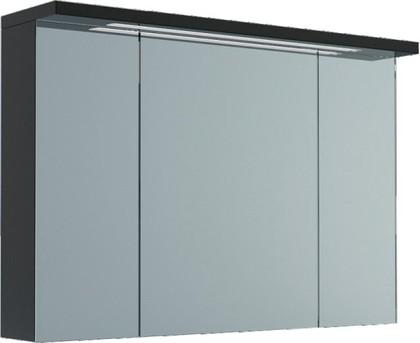 Шкаф зеркальный подвесной со светильником, 3 двери 100x23x73см Verona Viva VA606