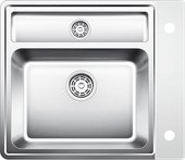 Кухонная мойка без крыла, с клапаном-автоматом, с коландером, нержавеющая сталь зеркальной полировки Blanco STATURA 6-IF Crystal (белое стекло) 516101