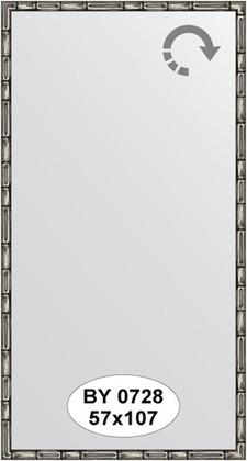 Зеркало 57x107см в багетной раме серебро-бамбук Evoform BY 0728