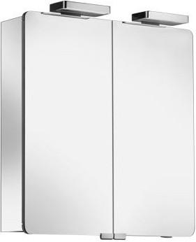 Зеркальный шкаф 70x76см с подсветкой двухдверный Keuco ELEGANCE 21602171301