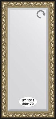 Зеркало 80x170см с фацетом 30мм в багетной раме барокко золото Evoform BY 1311