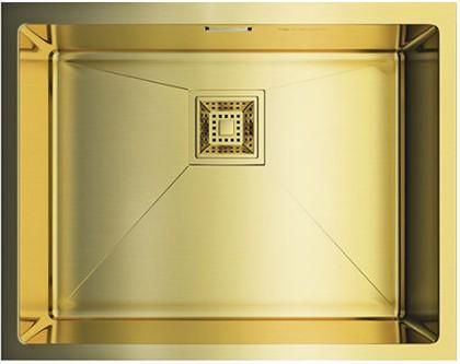 Кухонная мойка без крыла, нержавеющая сталь, золото Omoikiri Akisame 54-U-LG 4993093