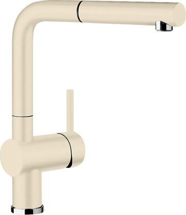 Смеситель кухонный однорычажный с высоким выдвижным изливом, керамика жасмин Blanco LINUS-S 516712