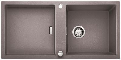 Кухонная мойка оборачиваемая без крыла, с клапаном-автоматом, гранит, алюметаллик Blanco ADON XL 6 S 519619
