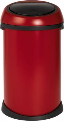 Ведро для мусора 50л красное Brabantia TOUCH BIN 395543