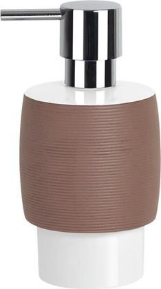 Spirella DEVA STRUCTURED Ёмкость для жидкого мыла с дозатором, коричневая, артикул 1015351