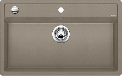 Кухонная мойка без крыла, с клапаном-автоматом, гранит, серый беж Blanco DALAGO 8 517323