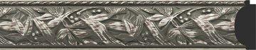 Зеркало с фацетом в багетной раме 49x59см византия серебро 99мм Evoform BY 3364