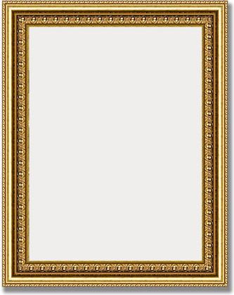 Зеркало 38x48см в багетной раме бусы золотые Evoform BY 1344