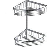 Полка для ванной угловая двойная 24.5см, хром Colombo ANGOLARI B9617