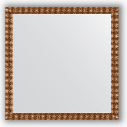 Зеркало в багетной раме 71x71см мозаика медь 46мм Evoform BY 3227