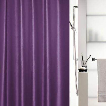 Штора для ванной 180x200см текстиль фиолетовая Spirella SHINE 1015652