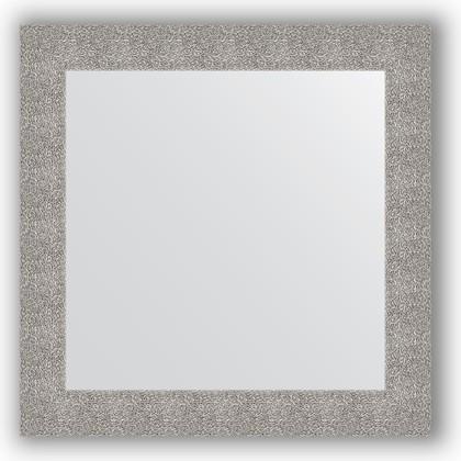 Зеркало в багетной раме 80x80см чеканка серебряная 90мм Evoform BY 3247