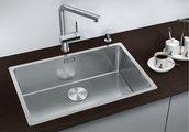 Кухонная мойка без крыла, нержавеющая сталь полированная Blanco ANDANO 700-IF 518616