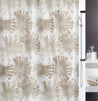 Штора для ванной комнаты 180x200см текстильная, бежевая Spirella LIOLA 1017924