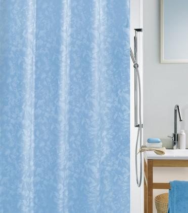 Штора для ванны 180x200см текстильная голубая Spirella PORTO 1033929