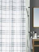 Штора для ванны 180x200см текстильная серебристая Spirella KARO 1013542