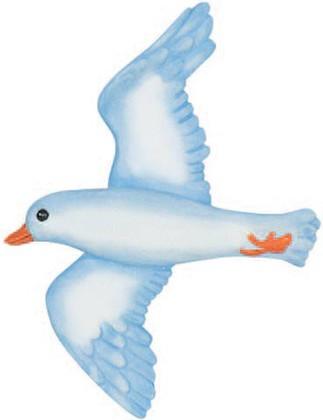 "Декор для ванной ""Чайка"" голубой, 2шт Spirella SEAGULL 1004314"
